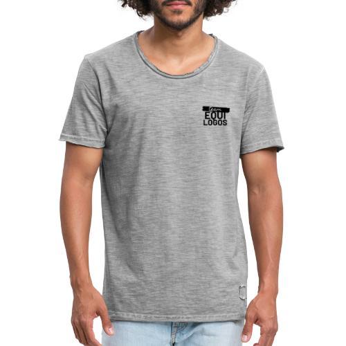 Logo noir team equilogo - T-shirt vintage Homme