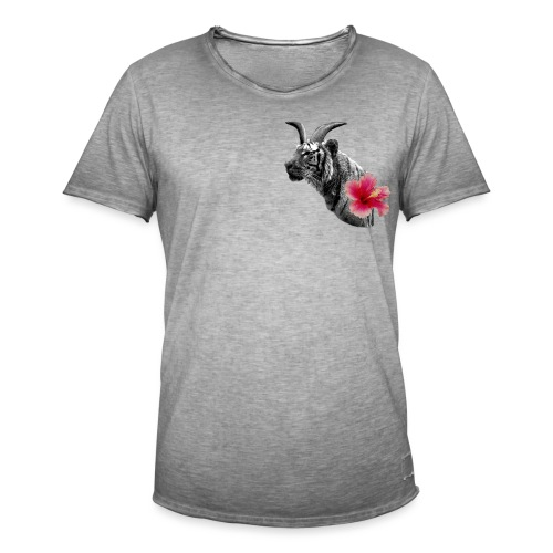 Horned Tiger Hibiscus graphic - Men's Vintage T-Shirt