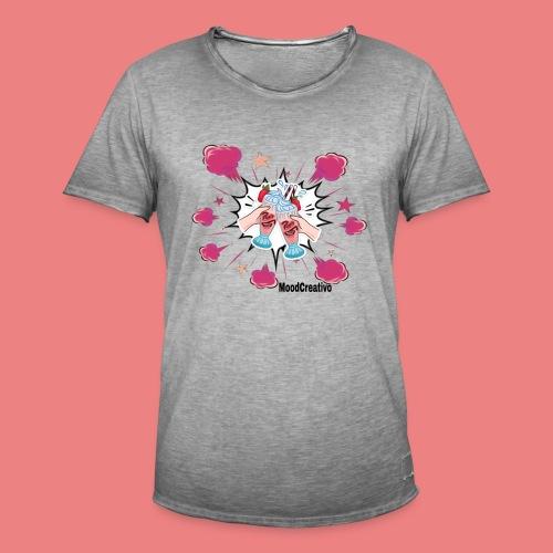 moodcreativoart - Maglietta vintage da uomo
