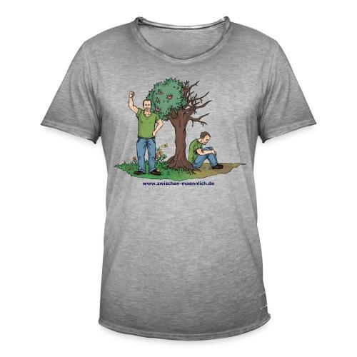 zwischen maennlich - Männer Vintage T-Shirt