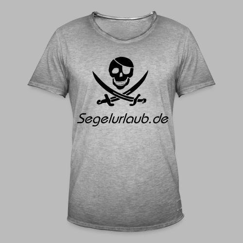 Piraten Flaggen Shirt Segelurlaub - Männer Vintage T-Shirt