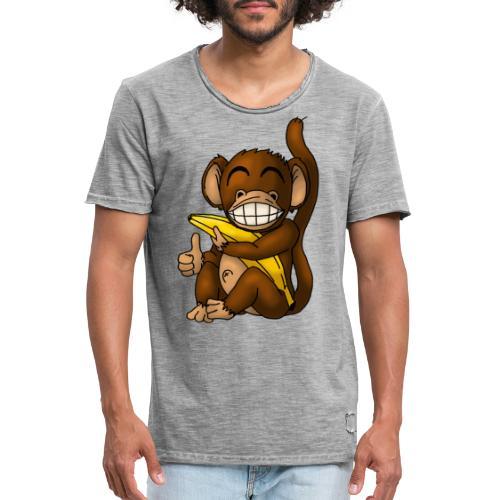 Super Fröhlicher Affe - Männer Vintage T-Shirt