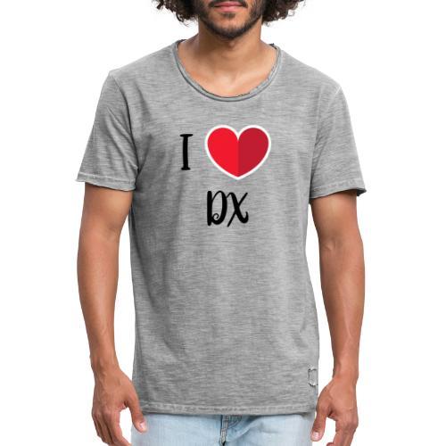 ilove dx black - T-shirt vintage Homme