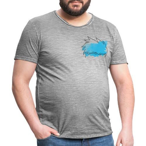 Blue Splat Original - Men's Vintage T-Shirt