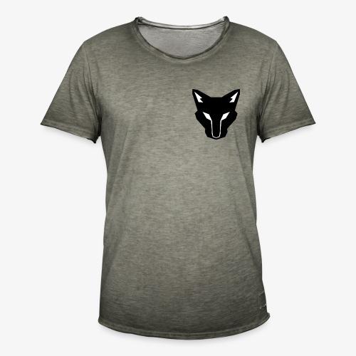 OokamiShirt Noir - T-shirt vintage Homme