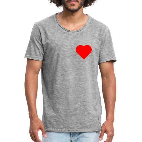 Heart - T-shirt vintage Homme
