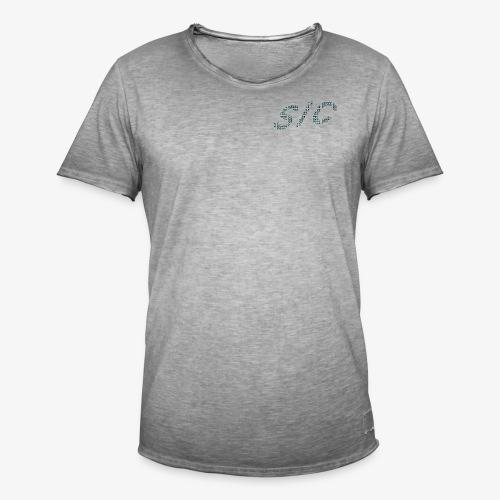 Letter logo black t-shirt - Men's Vintage T-Shirt