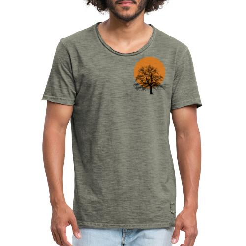 Dots Tree - Männer Vintage T-Shirt