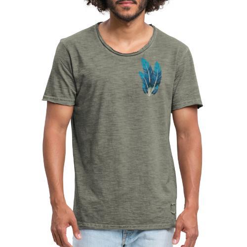 Dots Federn - Männer Vintage T-Shirt