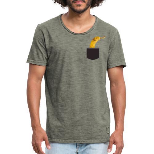 Banane in der Tasche - Männer Vintage T-Shirt