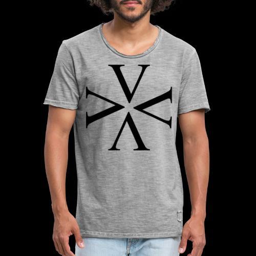 Cross - Männer Vintage T-Shirt