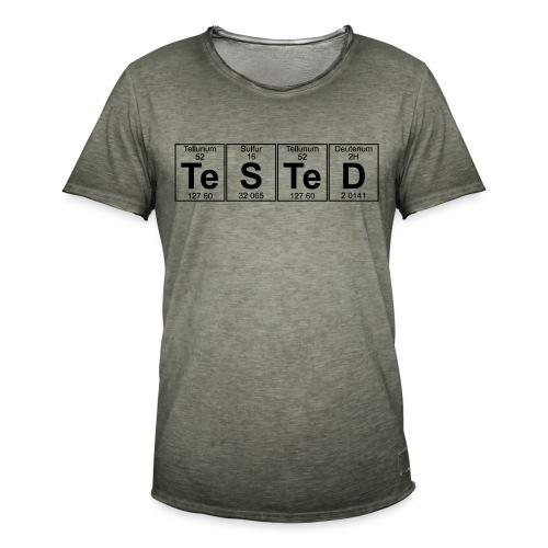 Te-S-Te-D (tested) (small) - Men's Vintage T-Shirt