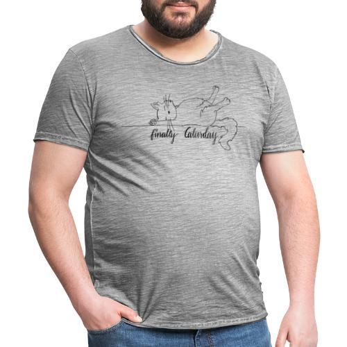finally Caturday - Männer Vintage T-Shirt