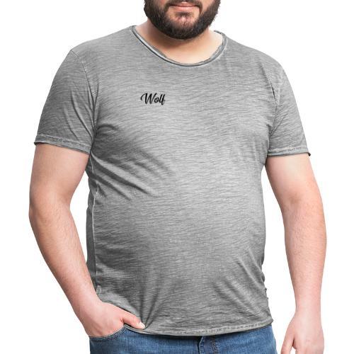 WOLF vorne LOGO hinten - Männer Vintage T-Shirt