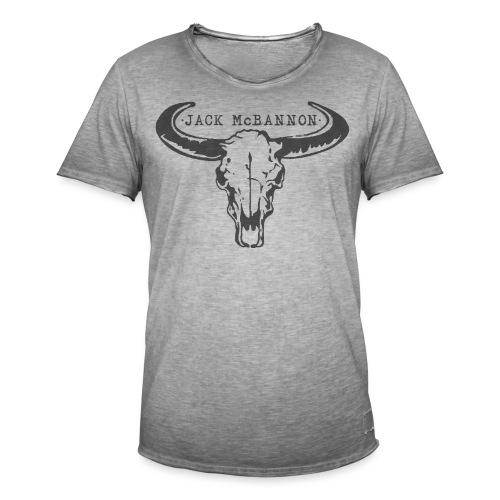 Jack McBannon - Bull Head II - Männer Vintage T-Shirt