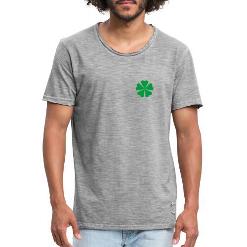 Trébol minimalista - Camiseta vintage hombre
