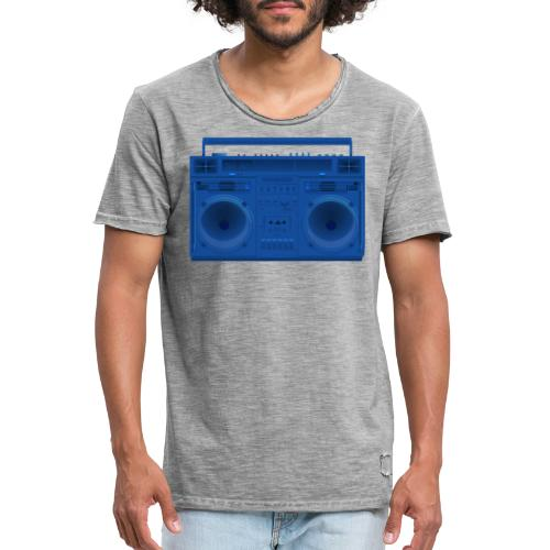 Bestes Stereo blau Design online - Männer Vintage T-Shirt