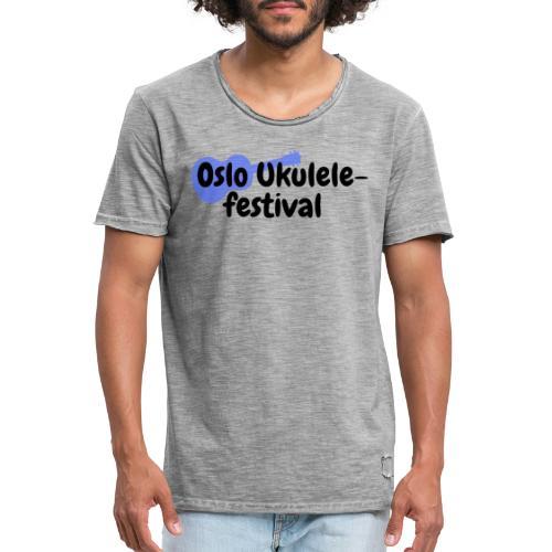 Oslo Ukulelefestival - Vintage-T-skjorte for menn