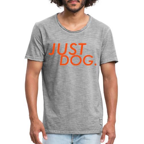 just dog WHNDGS Hundesport Agility Geschenkidee - Männer Vintage T-Shirt