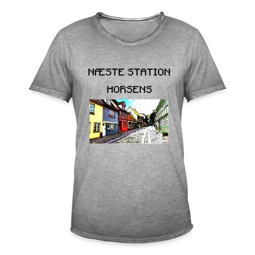 Næste station - Horsens - Herre vintage T-shirt