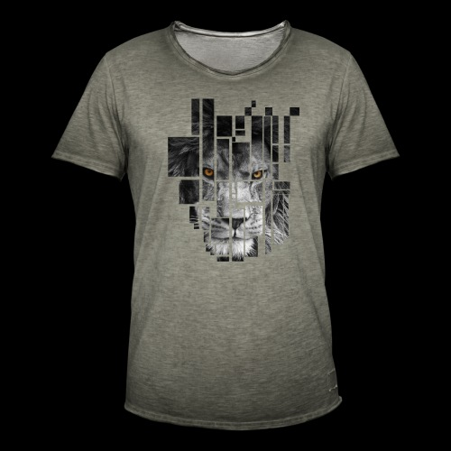 Pixel Lion Tattoo Inspire - Men's Vintage T-Shirt