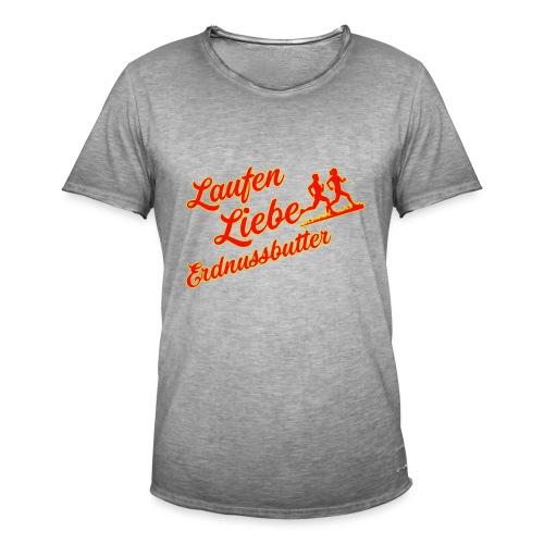 Laufen Liebe Erdnussbutter - Plakativ! - Männer Vintage T-Shirt