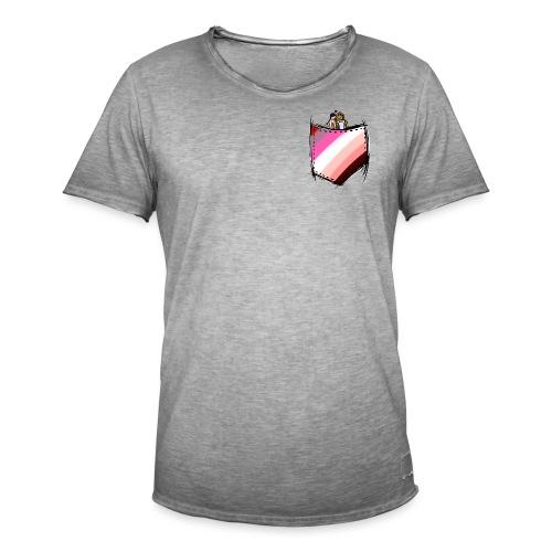 pocket lesbians flag - T-shirt vintage Homme