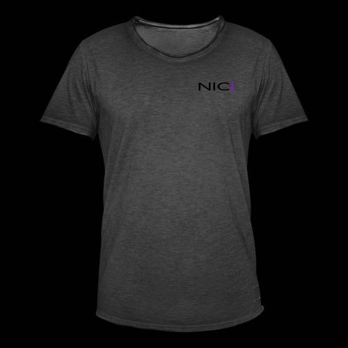 NICI logo Black - Miesten vintage t-paita
