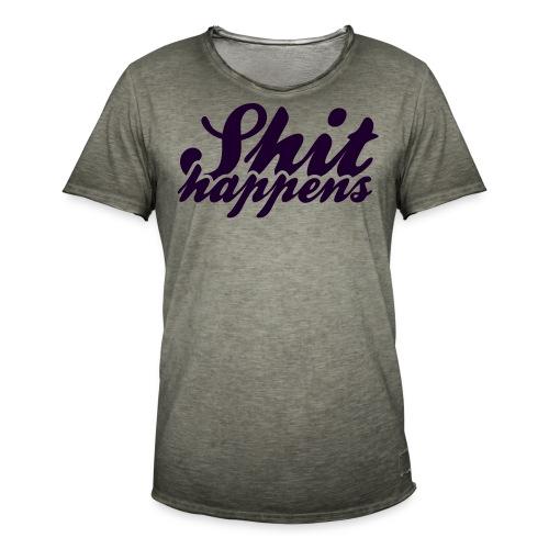 Shit Happens and Politics - Men's Vintage T-Shirt