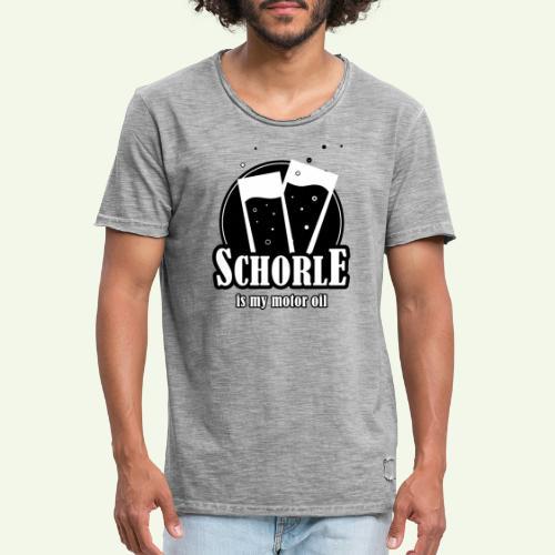Schorle is my motor oil (Stangenglas) - Männer Vintage T-Shirt