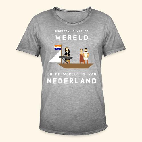 Iedereen is van de wereld... - Mannen Vintage T-shirt