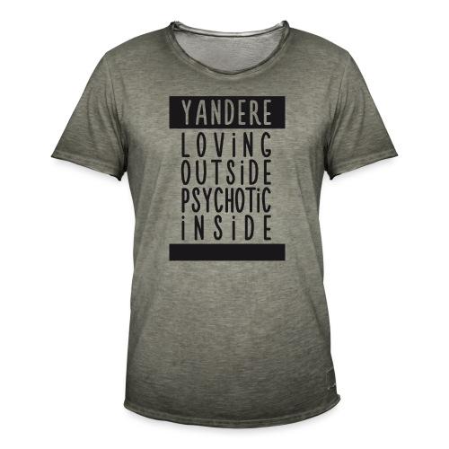 Yandere manga - Men's Vintage T-Shirt