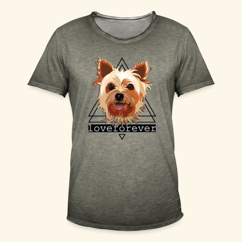 YORKIE LOVE FOREVER - Camiseta vintage hombre
