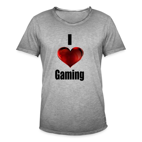 i love gaming - Männer Vintage T-Shirt