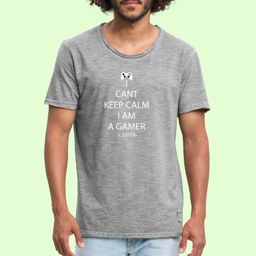 Keep Calm Weiss - Männer Vintage T-Shirt