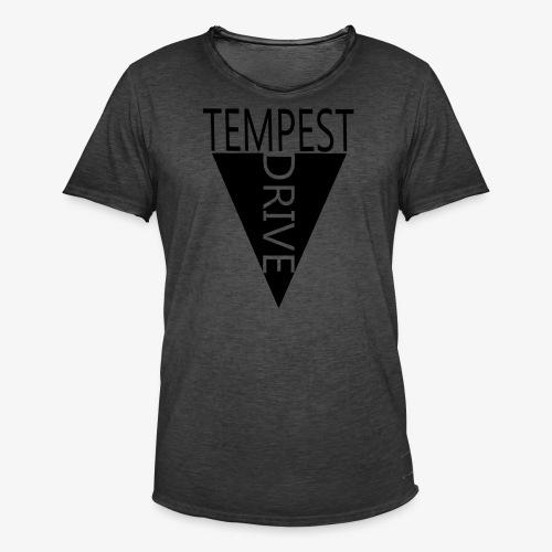 Komprimeret logo - Herre vintage T-shirt