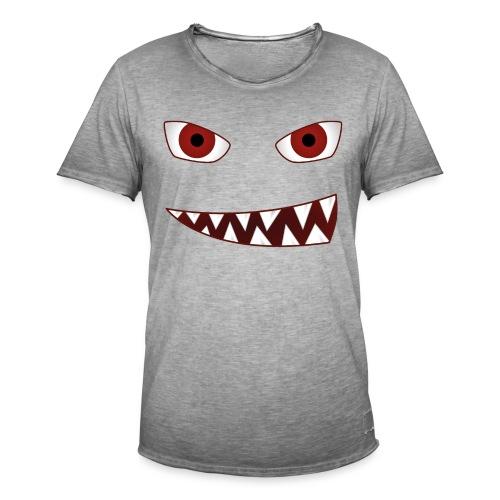 smiling devil emoticon grinning red demon - Männer Vintage T-Shirt