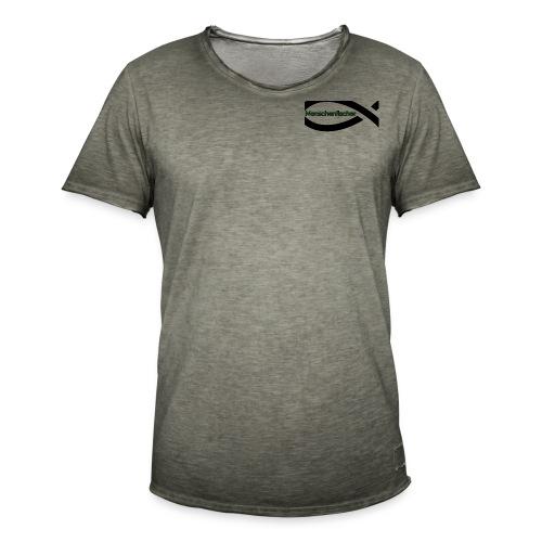 Menschenfischer. JB Label - Männer Vintage T-Shirt