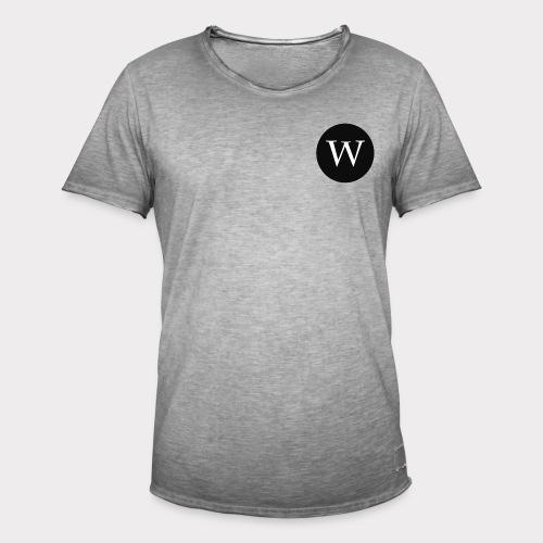 WHITE W CIRCLE - Men's Vintage T-Shirt