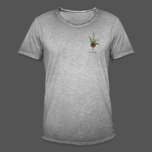 Alois Aloe Vera Pflanze in Kokosnussschale - Männer Vintage T-Shirt