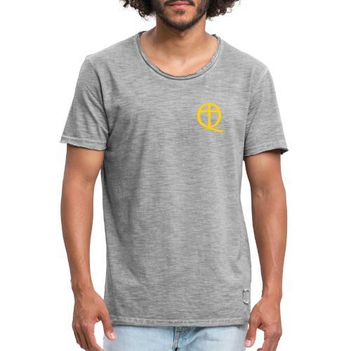 QC Gul - Vintage-T-shirt herr