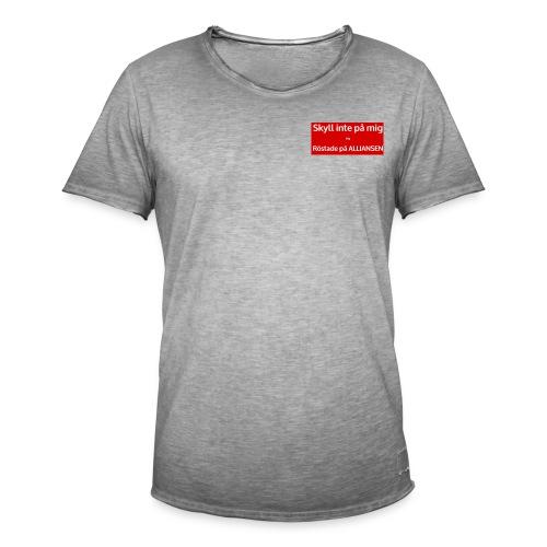 Jag röstade på alliansen - Vintage-T-shirt herr