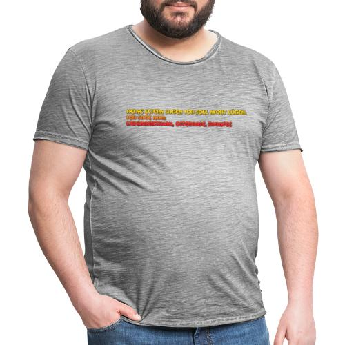 hahah - Männer Vintage T-Shirt