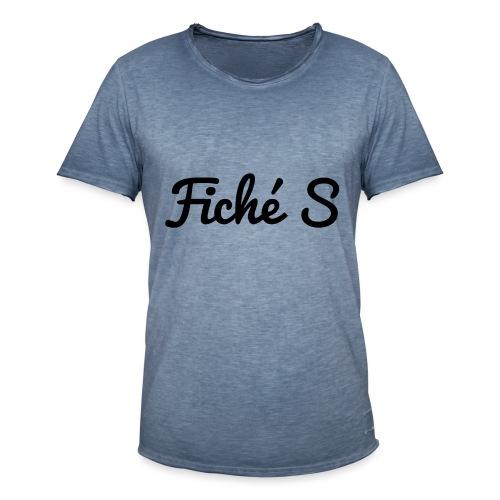 Fiché S - T-shirt vintage Homme