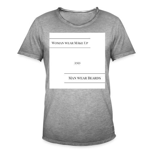 T-Shirt für Mann und Frau - Männer Vintage T-Shirt