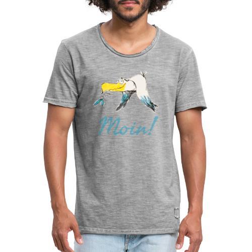 Lustige Moin Möwe von Volker Ernsting - Männer Vintage T-Shirt