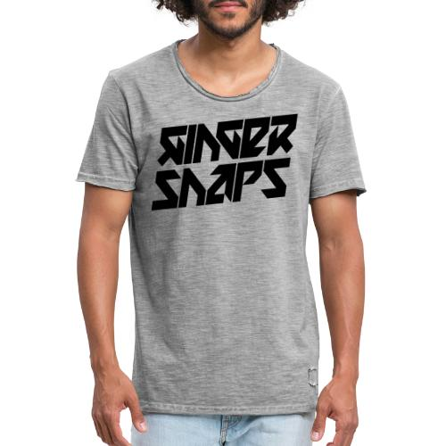 Ginger Snap5 logo (two lines black) - Men's Vintage T-Shirt