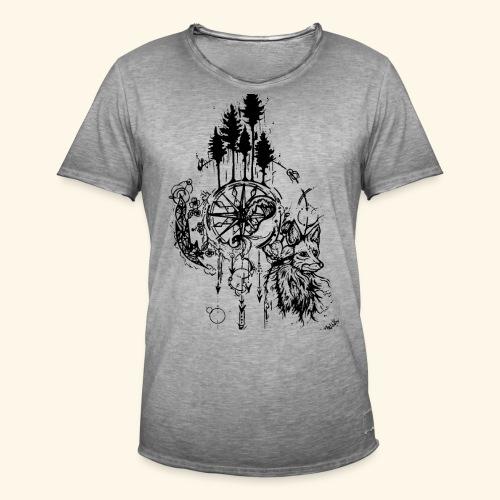 renard nature - T-shirt vintage Homme