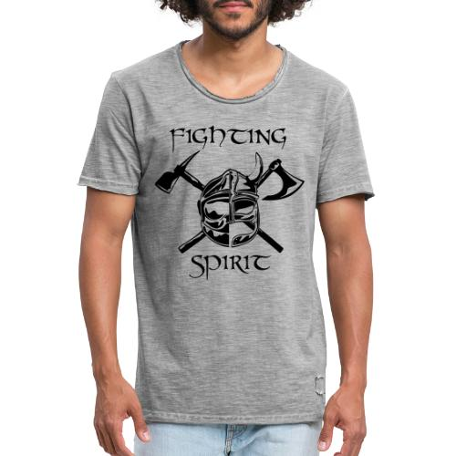 casque pompier fighting spirit - T-shirt vintage Homme
