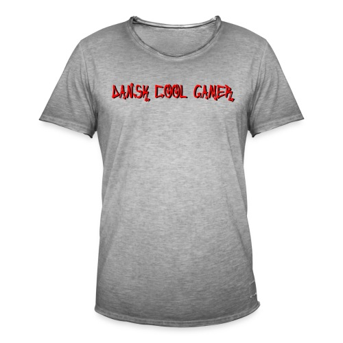 Dansk cool Gamer - Herre vintage T-shirt